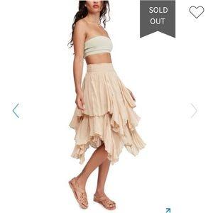 Free People Handkerchief tiered boho ruffle skirt